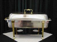Where to find 8 QT STAINLESS W BRASS CHAFER in Tyler