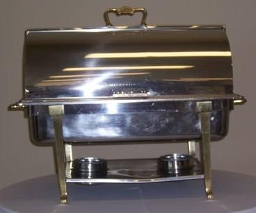 Where to find 8QT SS W BRASS ROLL TOP CHAFER in Tyler
