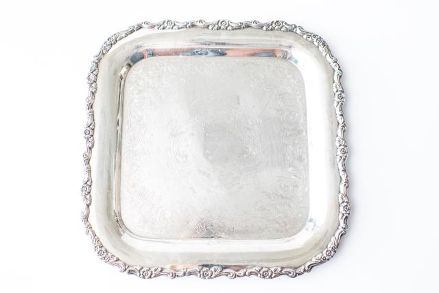 Where to find 15 X15  SILVER TRAY in Tyler