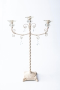 Rental store for 3LT IVORY IRON CANDELABRA in Tyler TX