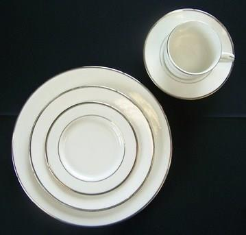 Where to find WHITE W  SILVER BAND CHINA in Tyler