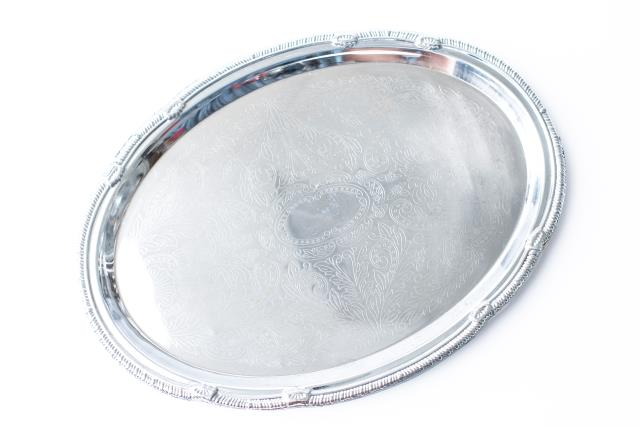 Where to find 13 X18  OVAL CHROME TRAY in Tyler