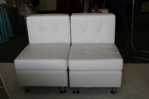 Where to find ARMLESS WHITE LEATHER CHAIR in Tyler