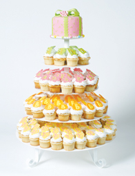 Where to find 5 TIER ROUND CUPCAKE STAND - WHITE in Tyler