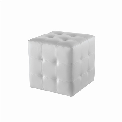 Where to find WHITE LEATHER CUBE OTTOMAN in Tyler