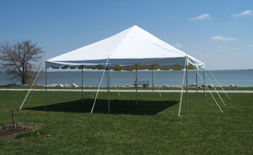 Where to find 20  X 20  CUSTOMER INSTALL POLE TENT in Tyler