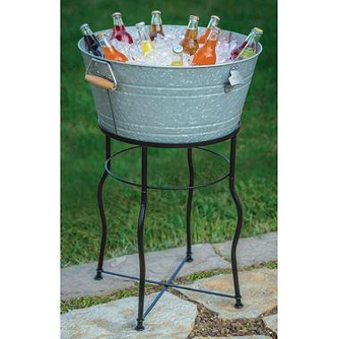 Where to find GALVANIZED BEVERAGE TUB WITH STAND in Tyler