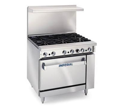 Where to find 36  6 BURNER GAS RANGE ON CASTERS in Tyler