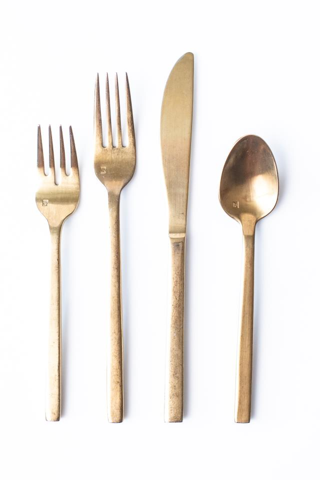 Where to find BRUSHED GOLD DINNER FORK in Tyler