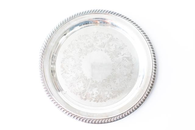 Where to find 20  RND SILVERPLATE GADROON TRAY in Tyler