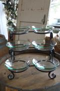 Rental store for 6 PC GLASS BOWL SERVER W  BLACK SCROLL S in Tyler TX