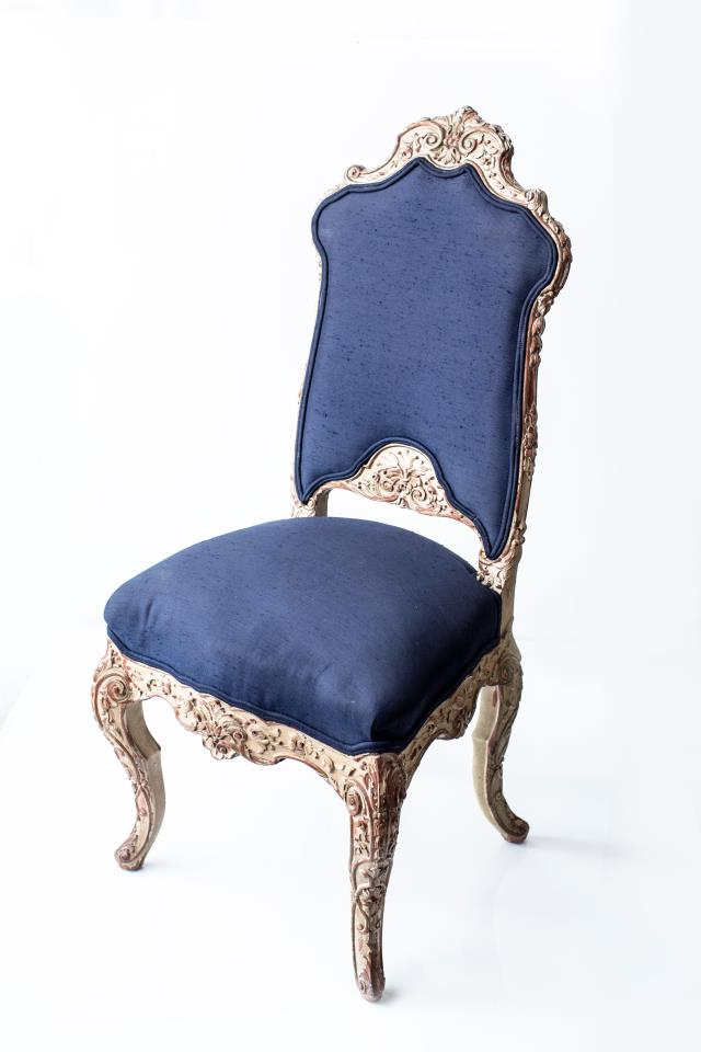 Where to find NAVY HIGH BACK ROCOCO CHAIR in Tyler