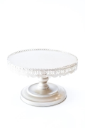 Rental store for 22  RD WHITE ANTIQUE CAKE STAND in Tyler TX