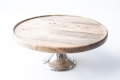 Rental store for 10  RND WOOD CAKE STAND in Tyler TX